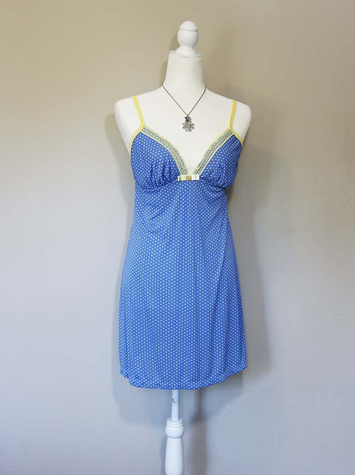 Polka-dot slip dress