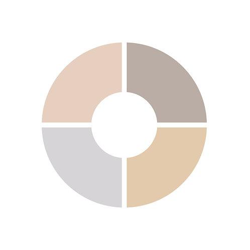 פלטת צבעים ורוד,בז,אפור בהיר,אפורסגלגל