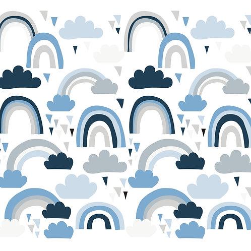 מדבקות קיר קשת בענן בצבעי מיקס כחול