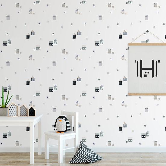 מדבקות קיר בתים