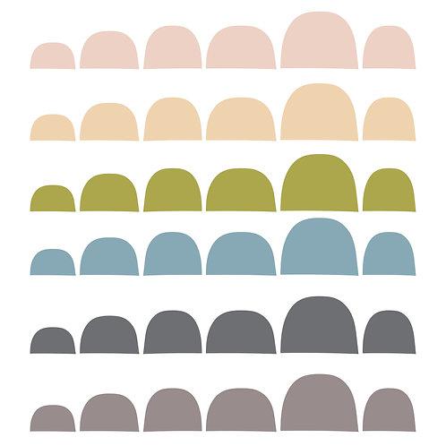 מדבקות קיר בורדר צבעוניות