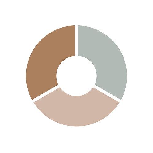 פלטת צבעים אפור,ורוד מעושן,חום
