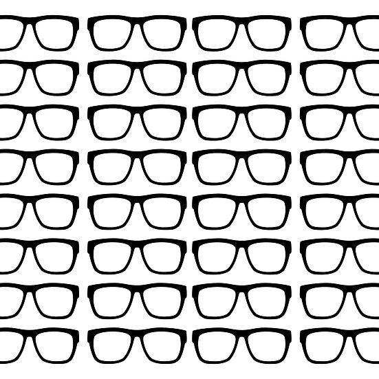 מדבקות קיר משקפיים
