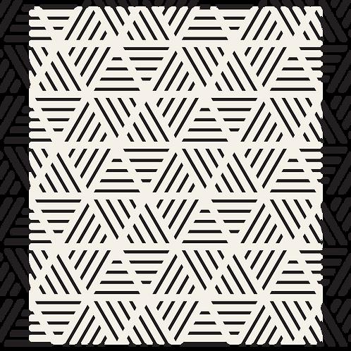 טפט גאומטרי- קוים משולשים