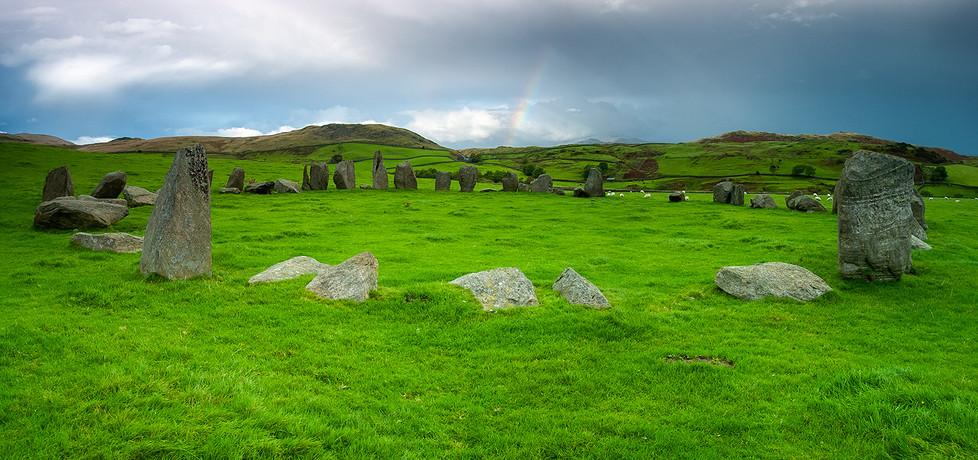 Swinside stone circle panorama 02