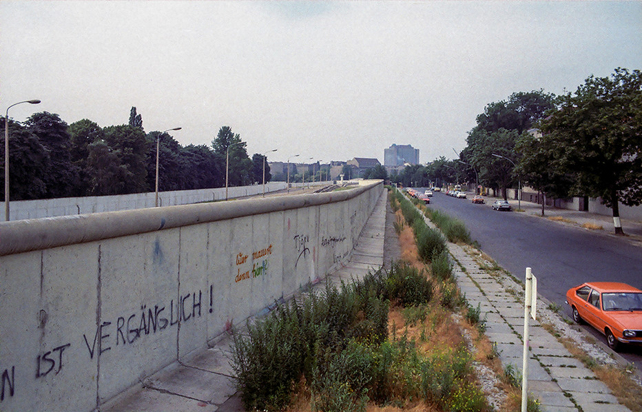 The wall towards the north of the city