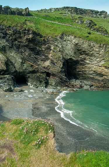Merlin's Cave in Tintagel Haven 03