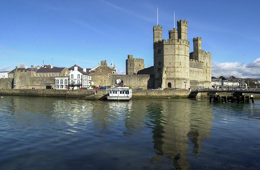 Caernarfon Castle and river mouth
