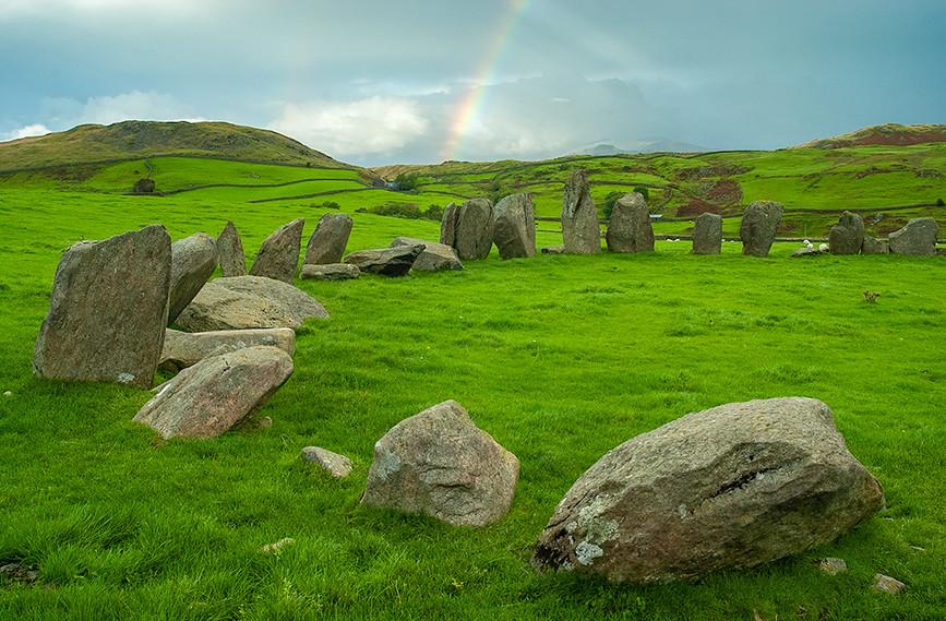 Rainbow over the stones