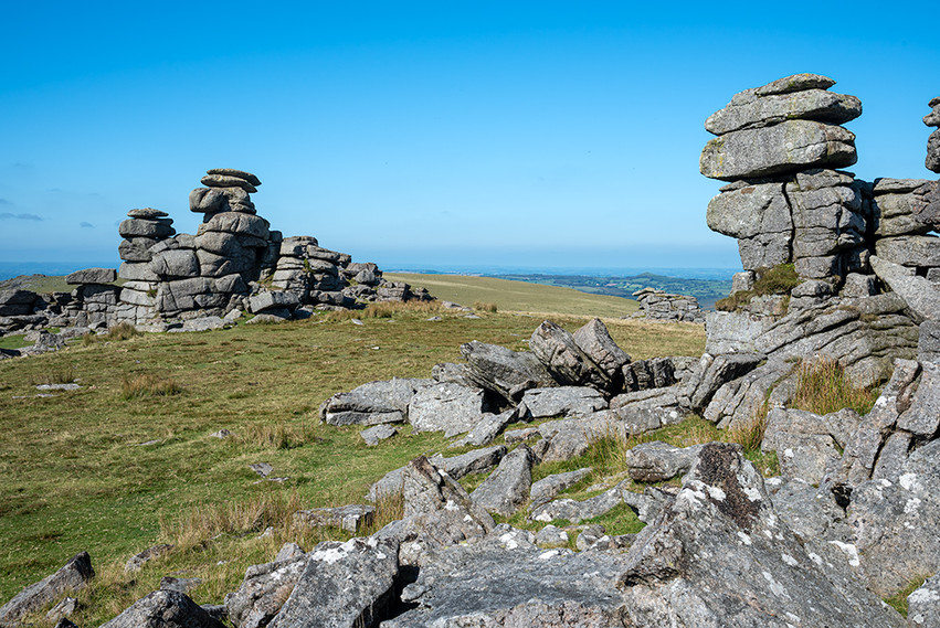 Granite outcrop on Great Staple Tor 8