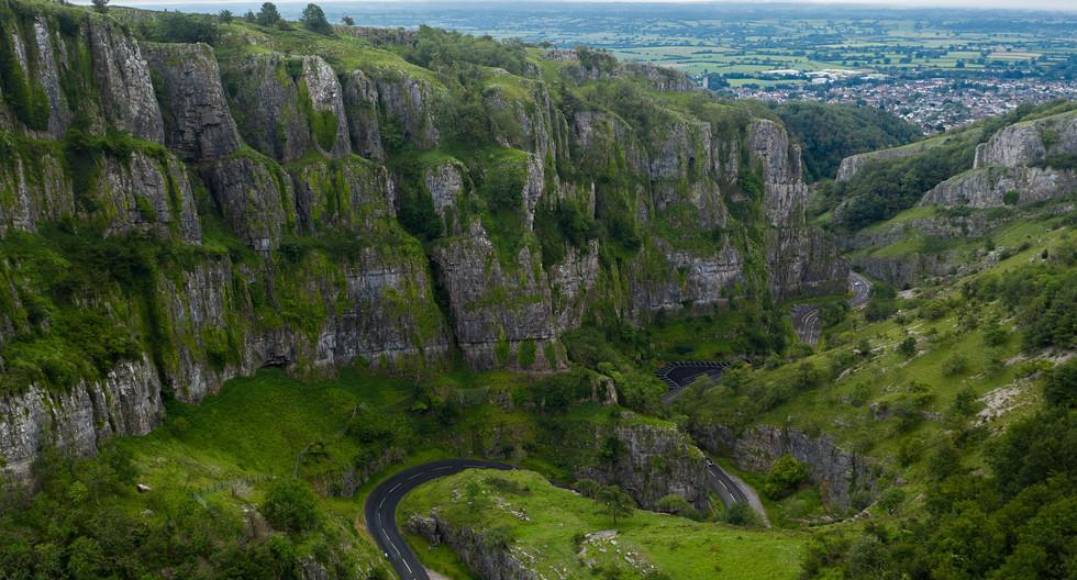 Limestone cliffs looking south