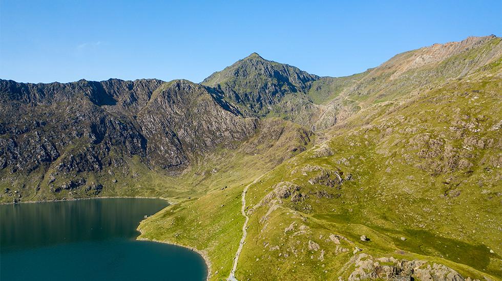 Llyn Llydaw looking towards Mount Snowdon
