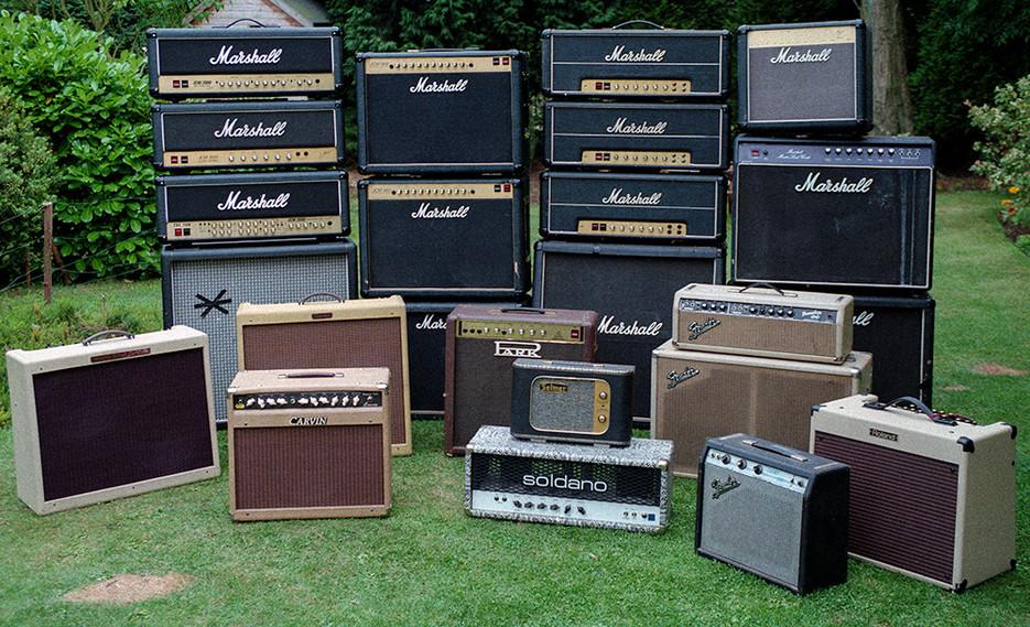 Marshall, Fender, Soldano, Park, Carvin & Selmer Amplifiers
