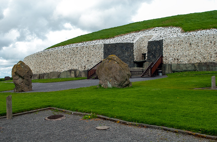 Remains of Stone Circle that once surrounded the Tomb