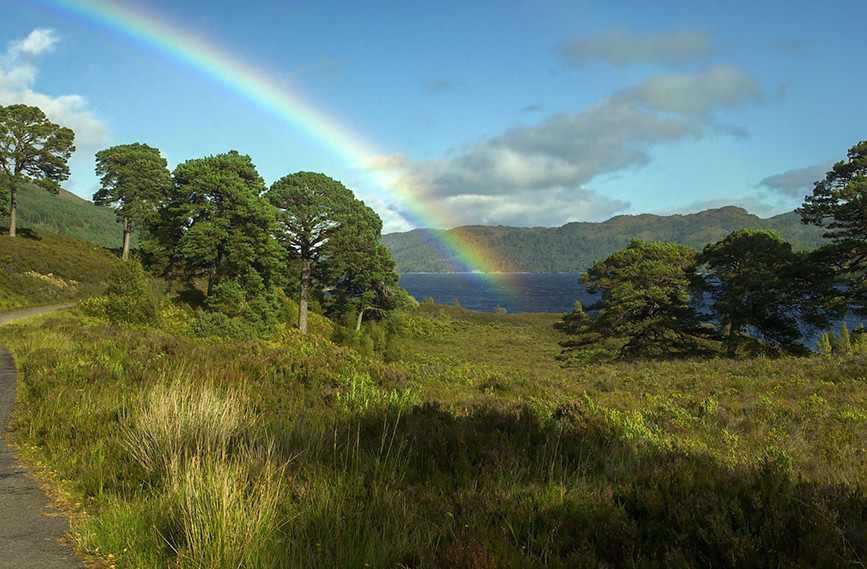 Rainbow over Loch Beinn a Mheadhoin 01