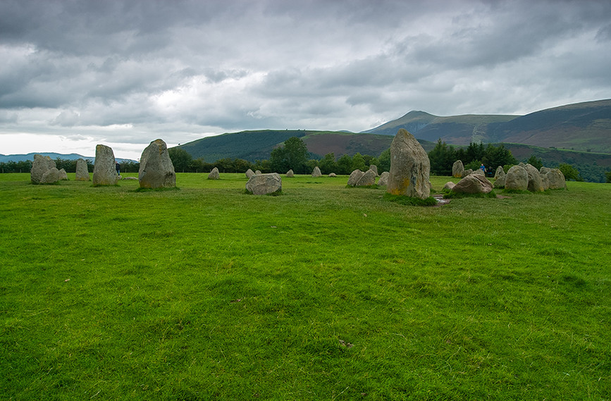 Castlerigg Stone Circle looking north towards the entrance