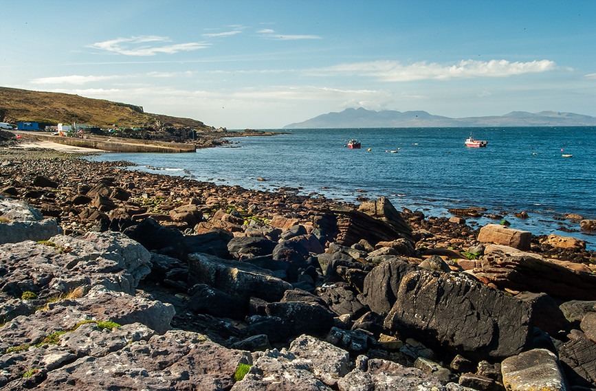 Elgol & the Island of Rum in the distance