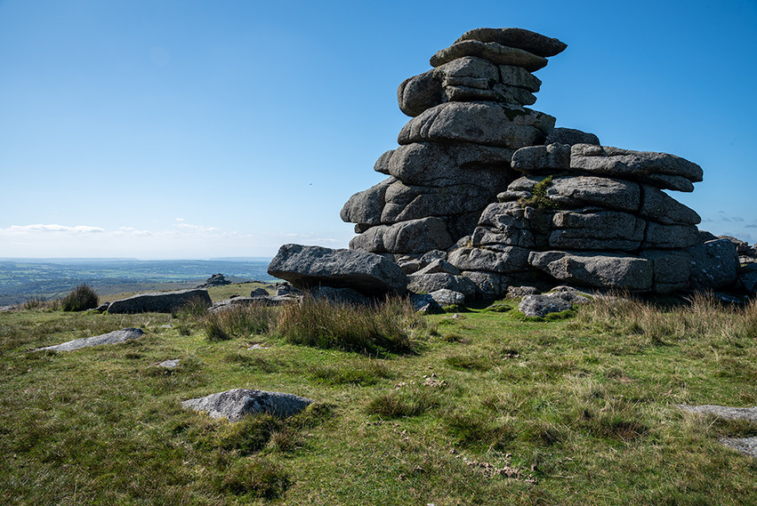 Granite outcrop on Great Staple Tor 17