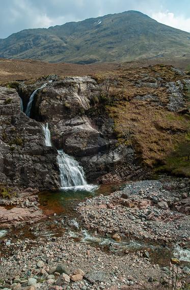 Clachaig Falls and Stob an Fhuarain, Glencoe (Autumn)
