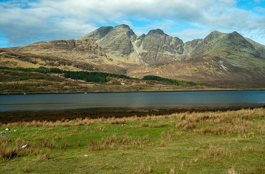 View across Loch Slapin towards Bla Bheinn
