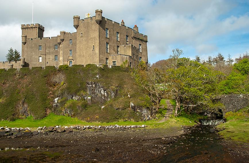 Dunvegan Castle & water cascade