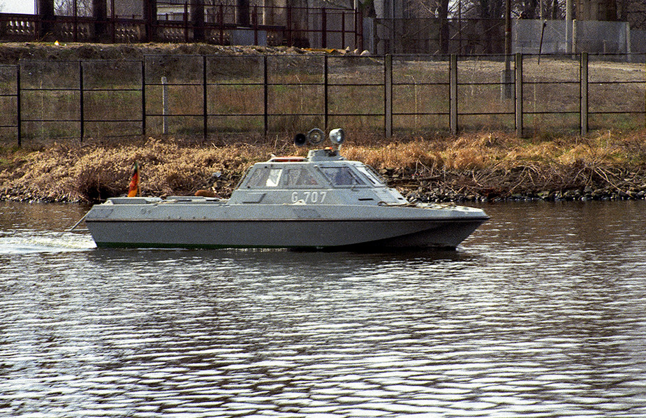 East German Border Guard Boat on the River Havel
