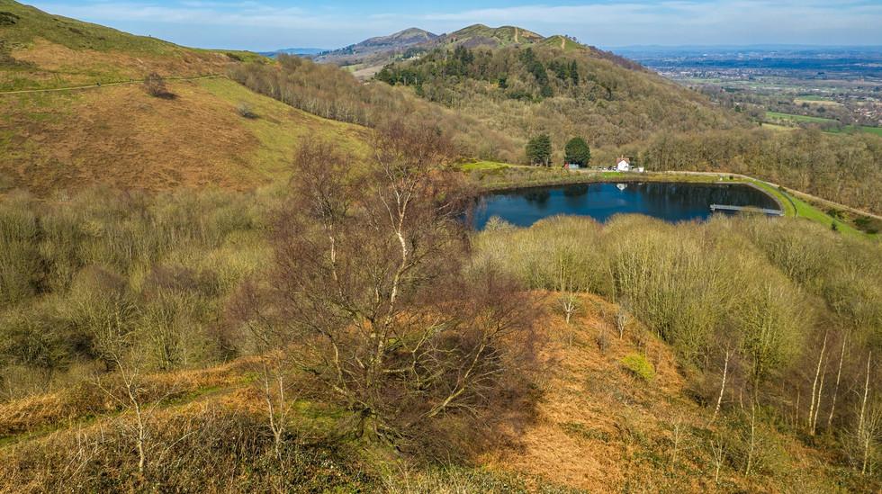 Malvern Hills and reservoir
