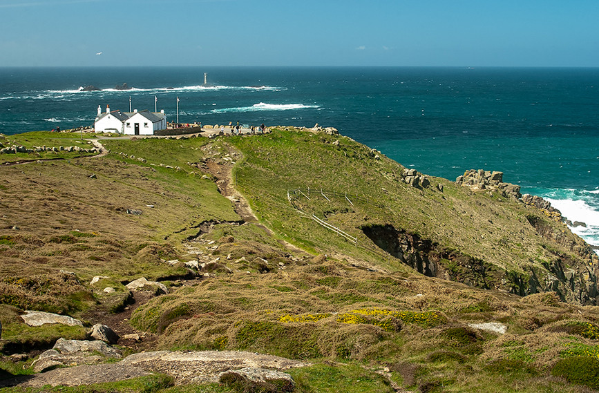 View of The First & Last House and Longships Lighthouse 02