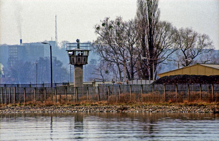 Guard tower across River Havel near Glienicker Brucke