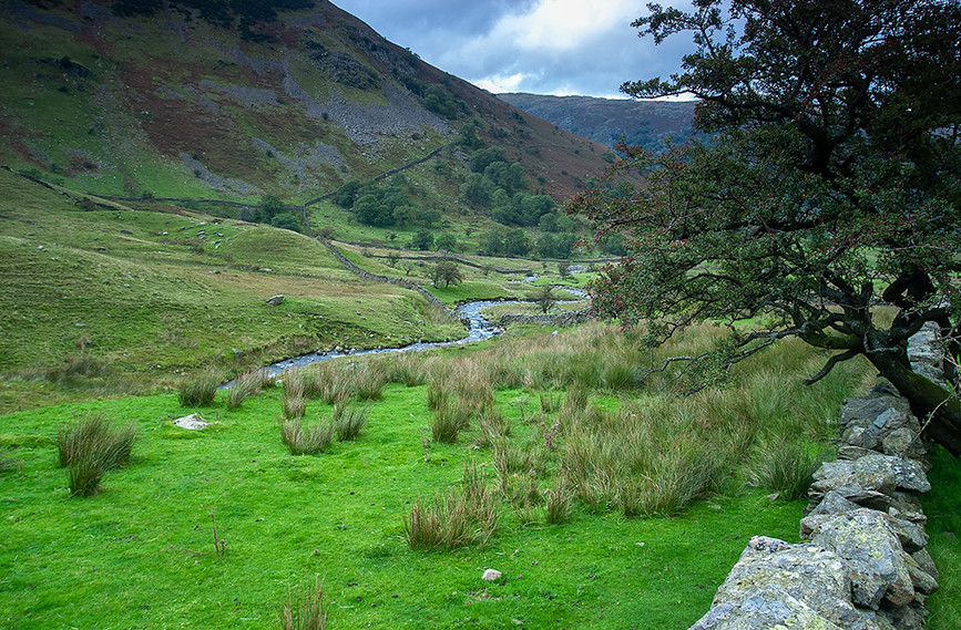 Kirkstone Beck at the bottom of the Pass