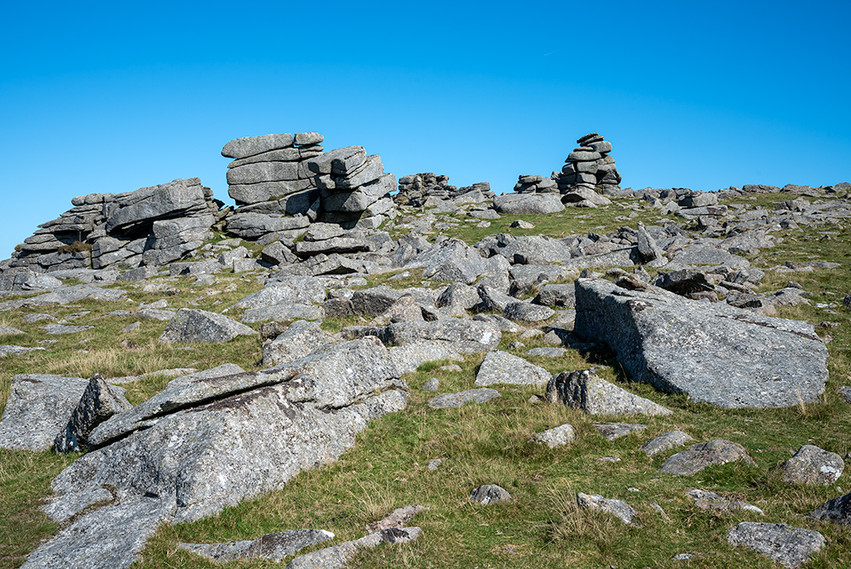 Clitter and granite outcrops on Great Staple Tor