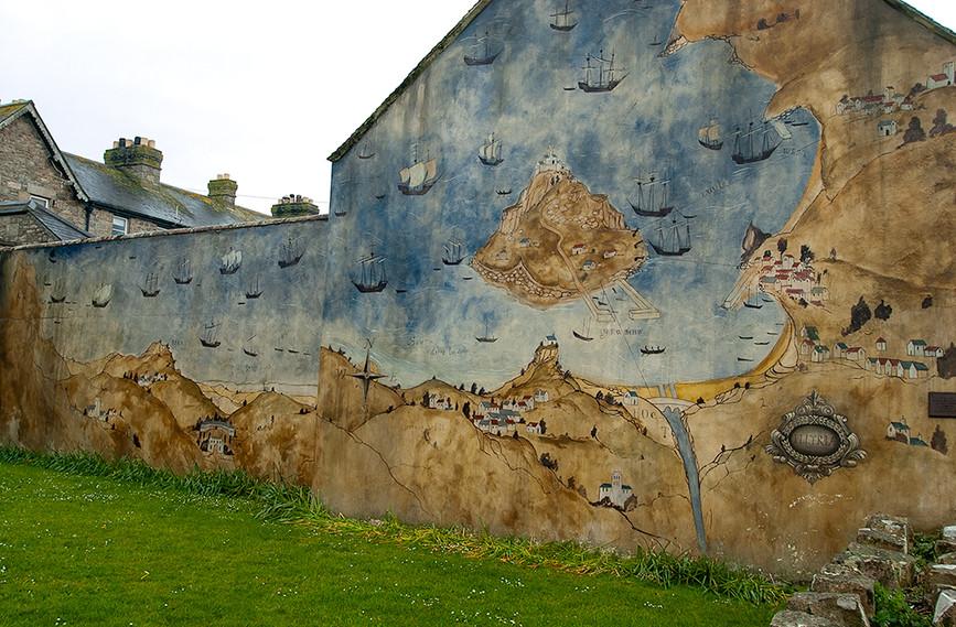 Mural of St Michael's Mount & surrounding area