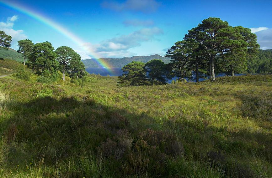 Rainbow over Loch Beinn a Mheadhoin 02