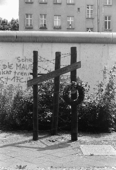 One of the crosses used as a memorial to an attempted escapee