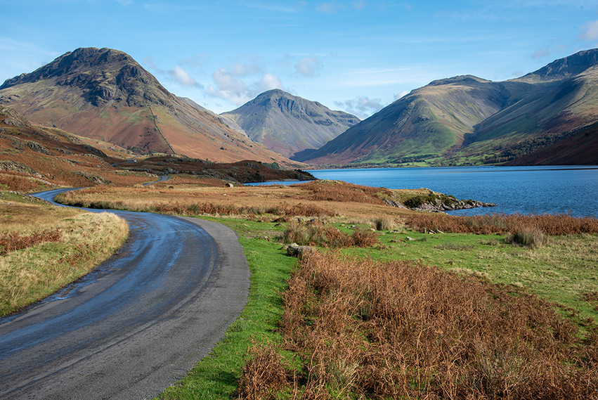View north along Wastwater (l-r Yewbarrow, Great Gable & Scafell Pike) 03