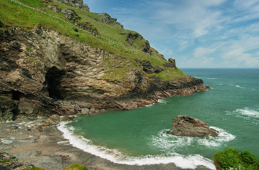 Merlin's Cave in Tintagel Haven 01