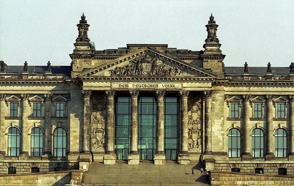 The Reichstag facade