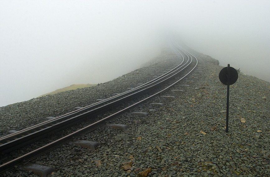 View up the mountain from Clogwyn Station