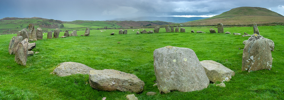 Swinside stone circle panorama 03