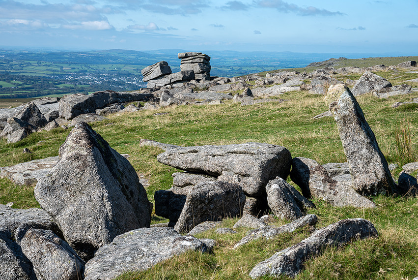 Granite outcrop on Great Staple Tor 3