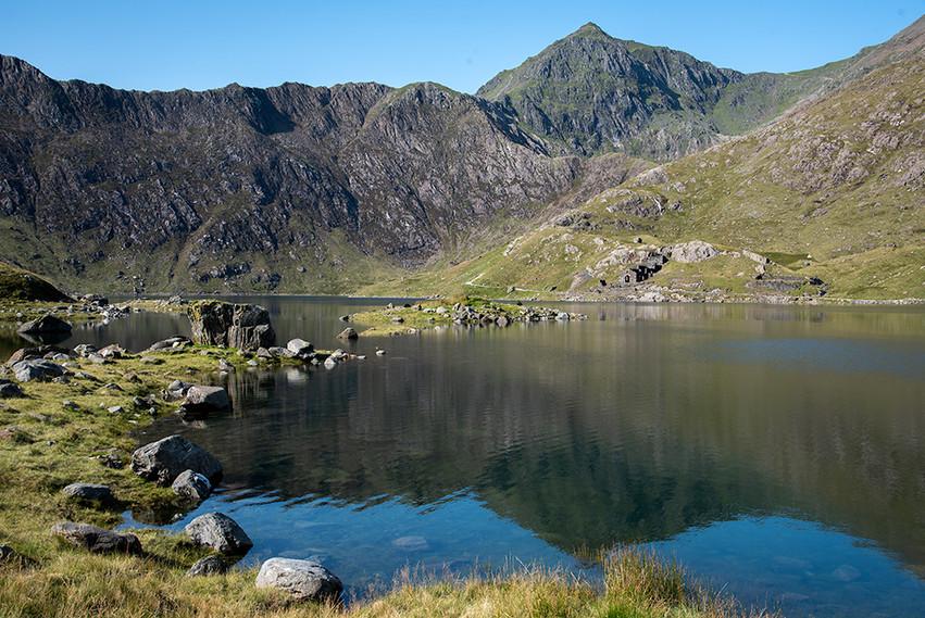 Mount Snowdon across Llyn Llydaw 04