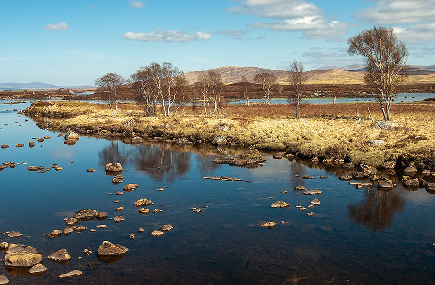 River leading to Loch Ba, Rannoch Moor 03