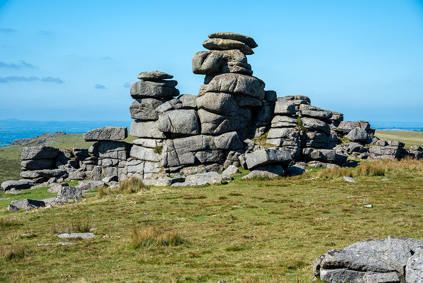 Granite outcrop on Great Staple Tor 9