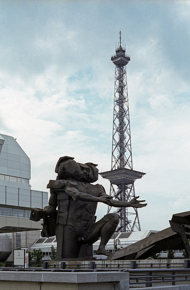 Statue in front of ICC - Funkturm in background