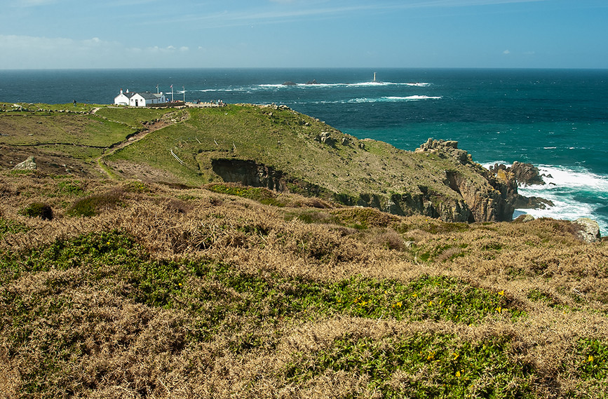 View of The First & Last House and Longships Lighthouse 01
