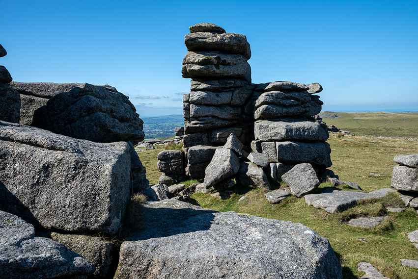 Granite outcrop on Great Staple Tor 16
