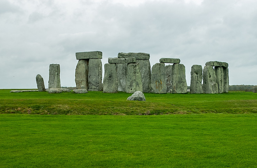 Stonehenge with Station Stone in foreground