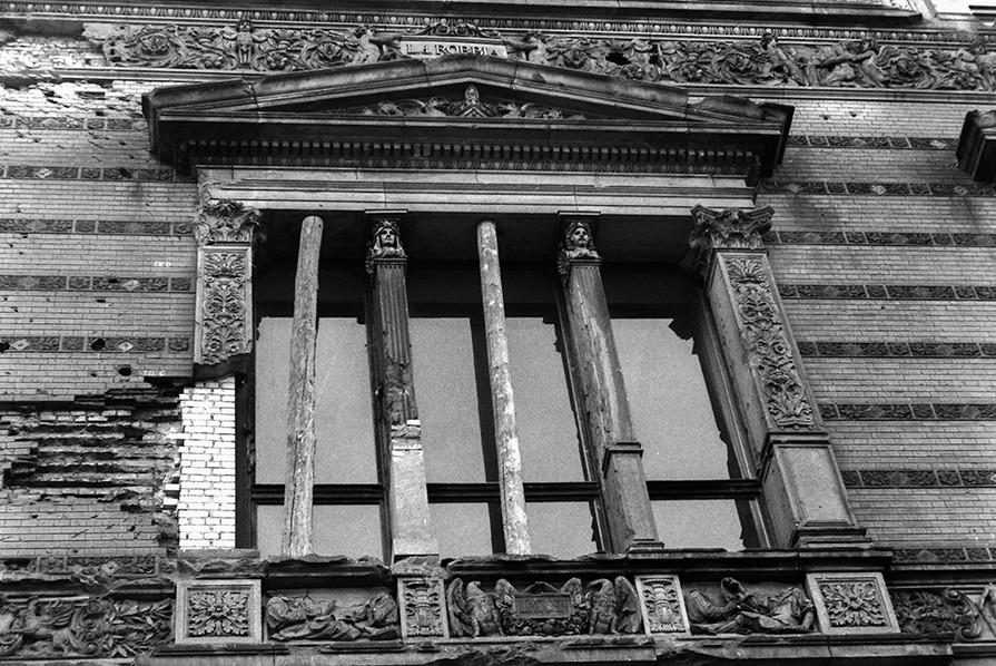 Detail of the War damaged building