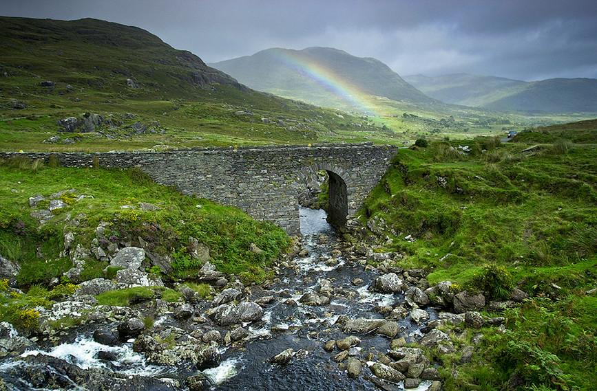 Rainbow over the Bridge, Healey Pass, Be