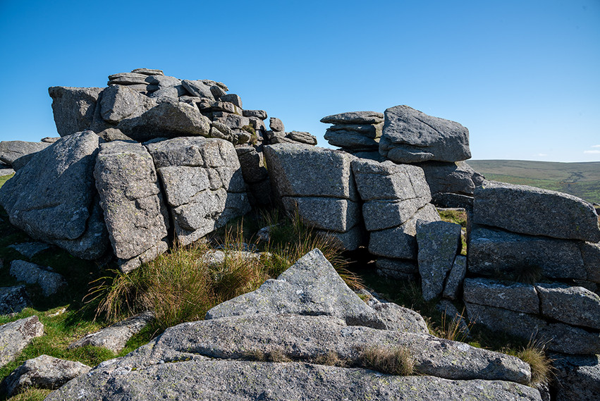 Granite outcrop on Middle Staple Tor 1